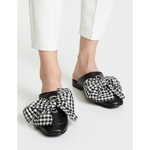 Freda Salvador Ono Gingham Tie Slip On Mules